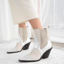 ★&Other Stories★Square Toe Leather Cowboy Boots★