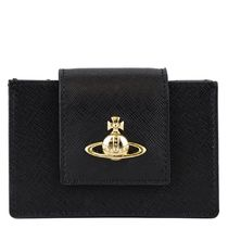 VivienneWestwood BALMORAL CARD HOLDER WITH i18aw401871blk