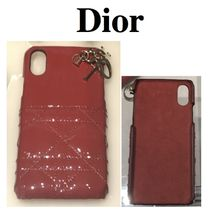 ☆DIOR☆LADY DIOR カーフスキンiPhoneケースX/RED