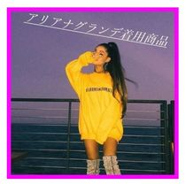 即納!The Sweetest Language Ariana Grande 黄色トレーナー人気