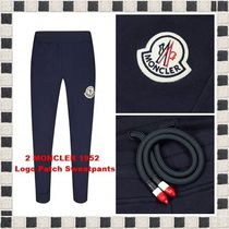 関税送料無料★最新作 2 MONCLER 1952 Logo Patch Sweatpants
