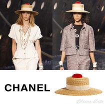 【19cruise NEW】 CHANEL_women ストロー ハット