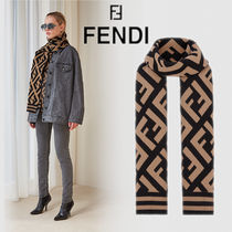 FENDI FF マフラー Multicolour wool and viscose shawl