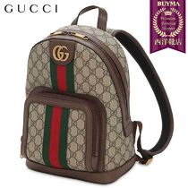【正規品保証】GUCCI★19春夏★OPHIDIA LEATHER&TECHNO BACKPACK