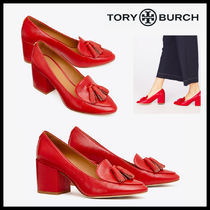 Tory Burch KIRA EMBOSSED TASSEL PUMP パンプス  赤 送料関税込