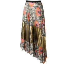 SALE!!【Dries Van Noten】asymmetric printed pleated skirt