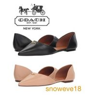 COACH【Leather Pointy Toe Flat フラットシューズ】