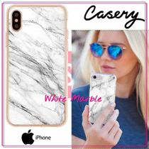 【日本未入荷★Casery★】White Marble iPhone ケース