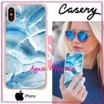 【日本未入荷★Casery★】Aqua Marble iPhone ケース