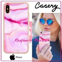 【日本未入荷★Casery★】Raspberry Marble iPhone ケース