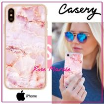 【日本未入荷★Casery★】Rose Marble iPhone ケース