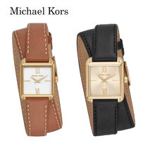 ★Michael Kors★Women's Lake Two-Hand Brown Leather Watch