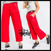 [STUSSY]♥ワイドレッグ・Tate Crop Jeans