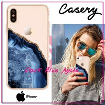 【日本未入荷★Casery★】Dark Blue Agate iPhoneケース