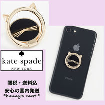 【kate spade】Cat Ring Stand スマホ バンカーリング 猫