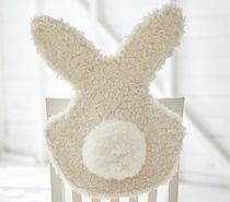 【Pottery Barn】Fur Bunny Chairbacker もこもこ 椅子の飾り