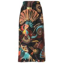 SALE!!【Dries Van Noten】feather print pencil skirt