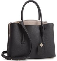 Black/ Warm Taupe margaux leather satchel KATE SPADE バック