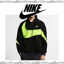 ボアフリース NIKE AS M NSW VW SWSH FULL ZIP JKT BLACK/VOLT