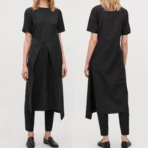 """COS"" ASYMMETRIC TIE DRESS BLACK"