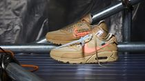 購入証明付the ten OFF-WHITE NIKE AIRMAX90DESERTOREAA7293-200