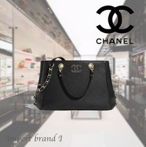 【CHANEL】正規店購入品☆ Small tote Bull & gold metal