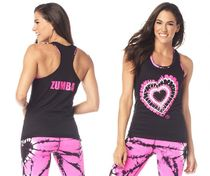 新作♪Zumbaズンバ Love Ribbed Tank - Bold Black