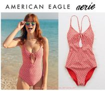 American Eagle Outfitters(アメリカンイーグル) ワンピース水着 【新作】AmericanEagle*Aerie*ワンピーススイムスーツ*小花柄Red