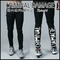 【CRIMINAL DAMAGE】送料込Shacklewell Jeans/ロゴ/デニム
