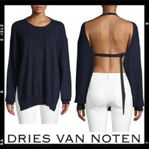 Sale【Dries Van Noten】Open-Back Cashmere Sweater
