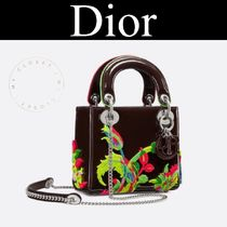 Dior 新作 Lady Dior ミニ バッグ ロゴ チェーン 刺繍 花 限定