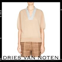 Sale【Dries Van Noten】Metallic-Piped Knit Top