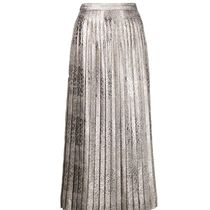 SALE!!【Dries Van Noten】pleated metallic skirt