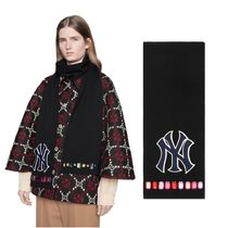 GUCCI ウール マフラー Wool scarf with NY Yankees patch