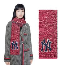GUCCI ウール マフラー Scarf with NY Yankees patch