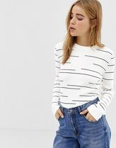 Pimkie lightweight jumper in off white with stripes