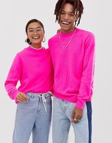 COLLUSION Unisex neon crew neck jumper