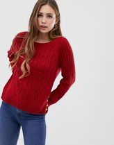 Superdry red cable knit jumper