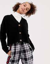 COLLUSION boxy cropped cardigan