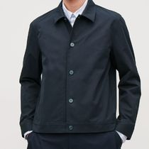 """COS MEN"" BUTTON-UP SHIRT JACKET NAVY"