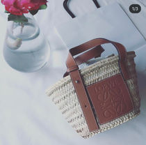 【LOEWE】カゴバッグ♪《Baskets Small》◆NATURAL+TAN◆追跡付!