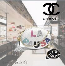 【CHANEL】 Evening bag Lamb embroidered & gold metal