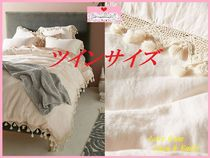 19SS☆最安値*関送料込【Anthro】Tasseled Linen Duvet Cover
