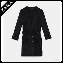 ★ZARA TRF★  FAUX SUEDE JUMPSUIT DRESS