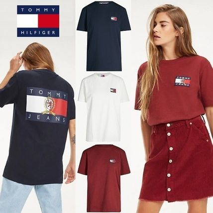 Tommy Hilfiger Tシャツ・カットソー 【Tommy Jeans】フラッグロゴ プリントTシャツ (関税送料込)