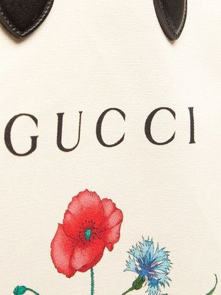 GUCCI トートバッグ グッチ☆Chateau Marmont ロゴ 花柄 キャンバス・トート バッグ(5)