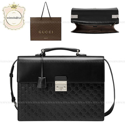 outlet store 2a22f 5d0e1 SALE【国内発送】GUCCI◆グッチシグネチャーブリーフケース