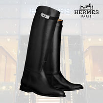 【19SS】HERMES/エルメス ロングブーツ Bottes Jumping noir