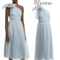 【19SS】★RED VALENTINO★One-shoulder tulle dress with bow