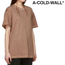 A-COLD-WALL(アコールドウォール) Tシャツ・カットソー ★A-COLD-WALL★ ブラウン ブラケット T シャツ ★関税 送料込★